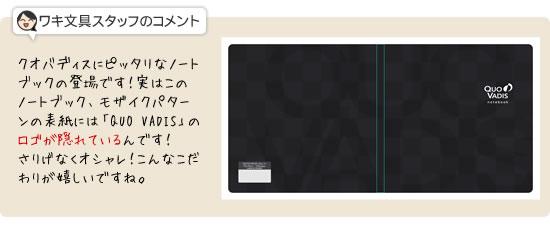 クオバディス/QUOVADIS手帳/ダイアリー用 ノートブック16×16/クラシック