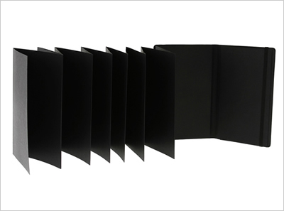 アコーディオン風を黒で表現