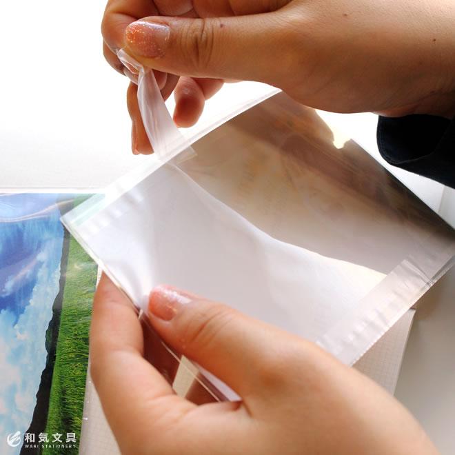 剥離紙は簡単に剥がせます
