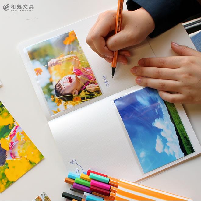手帳やノートに写真をペタリアルバムも簡単に作れます