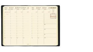 【2018年 手帳】クオバディス QUOVADIS 週間 バーチカル(時間軸タテ)10×15cm ビジネスプレステージ クラブ