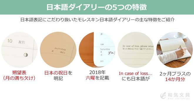 手帳の5つの特徴