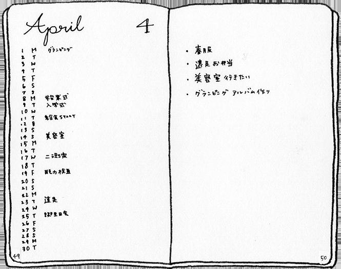 3.マンスリーログ Monthly log
