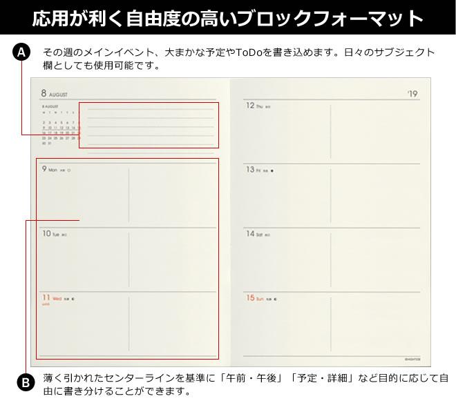 【2020年 4月始まり 手帳】ハイタイド HIGHTIDE A6サイズ ブロック レプレ 週間