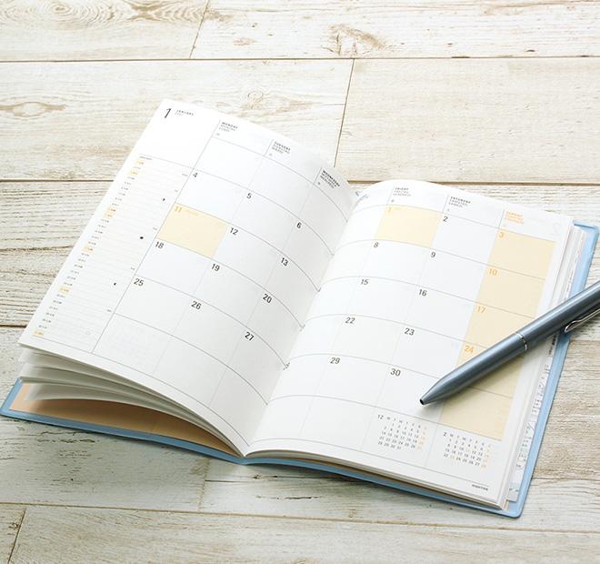 【2021年 4月始まり 手帳】ハイタイド HIGHTIDE B6サイズ イーリス 月間
