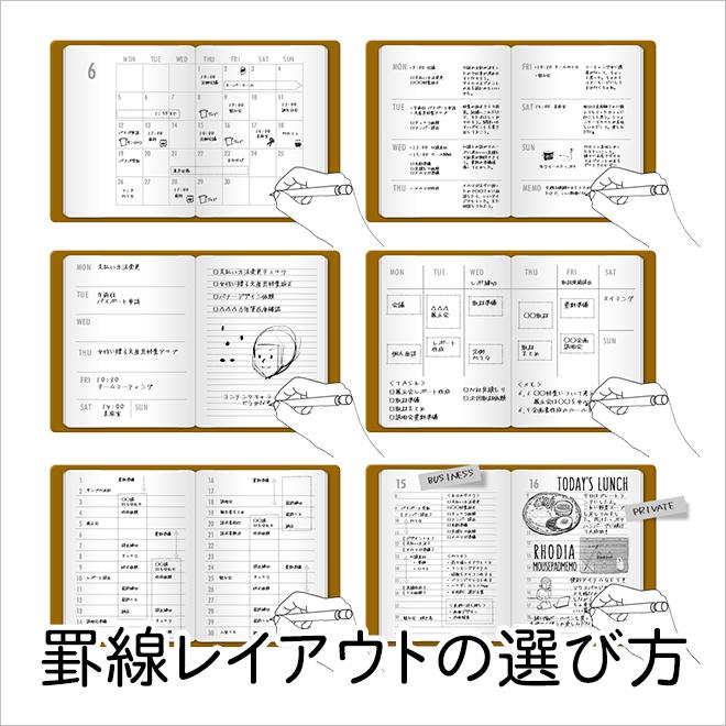 手帳の罫線レイアウトの選び方