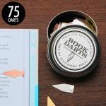 ブックダーツ BOOKDARTS 和気文具オリジナルデザイン缶 75個入り 3色ミックス