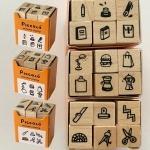 プレイン Plain 直物生活文具 ミニモスタンプセット minimo Stamp Set