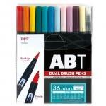 トンボ鉛筆 Tombow ABT 水性マ-カ- 36色セット ブラッシュ ツイン カラーペン