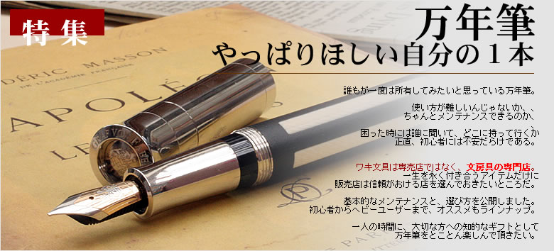 特集 万年筆 やっぱり欲しい自分の1本