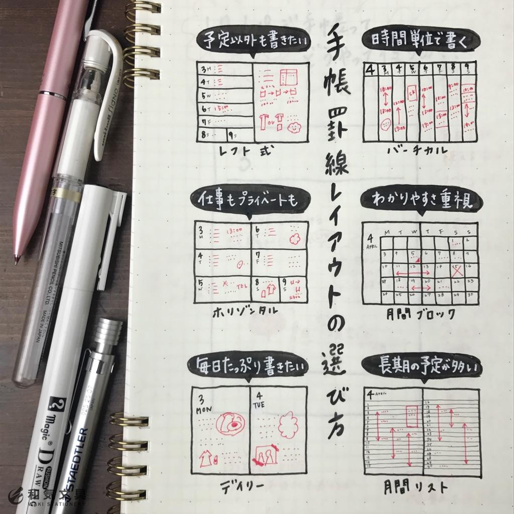 手帳の選び方~罫線編