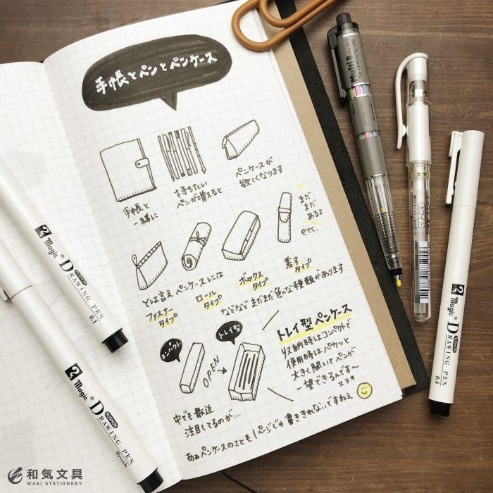 手帳とペンとペンケース