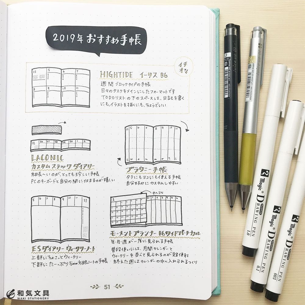 和気文具スタッフの2019年おすすめ手帳