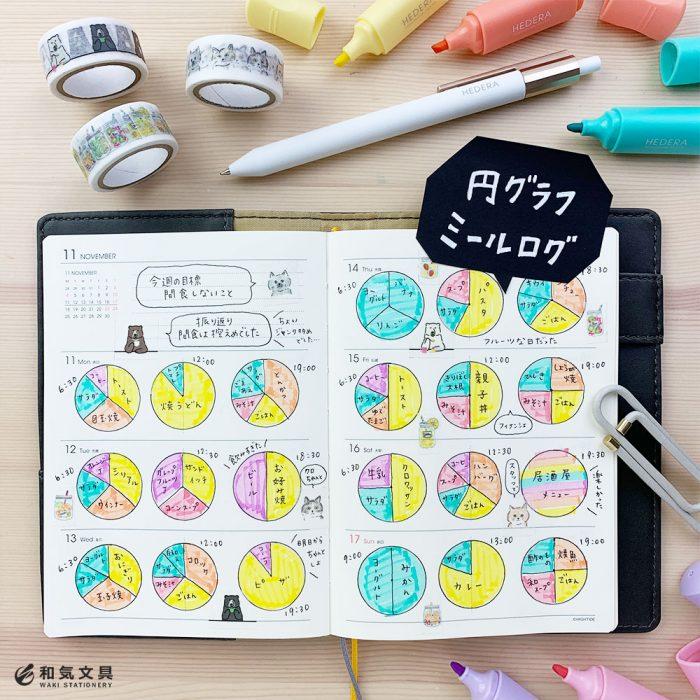円グラフで簡単楽しい食事ログ