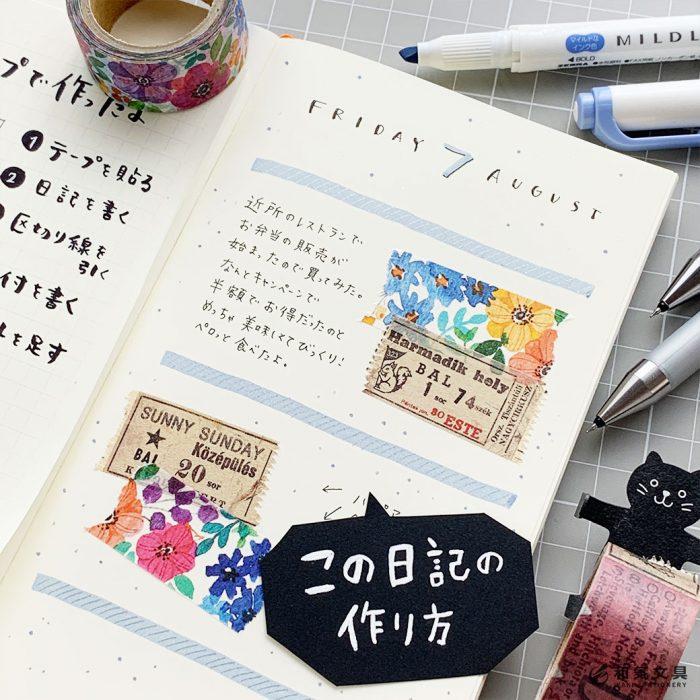 5ステップ♪かわいい日記の作り方