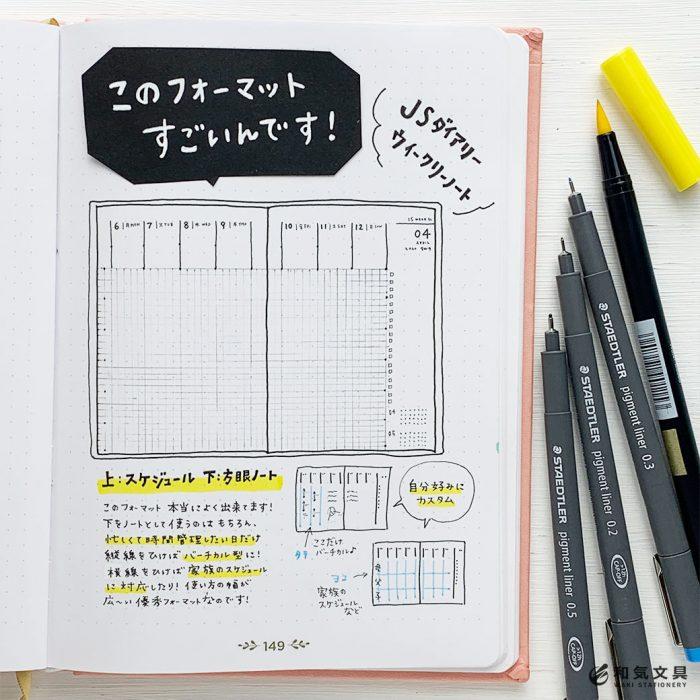 この手帳フォーマット、すごいんです。